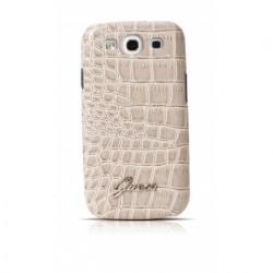 Púzdro Guess Crocodile Samsung Galaxy S3 biele