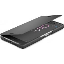 Štýlový flipový kryt Sony SCR52 pre Xperia X, Graphite Black