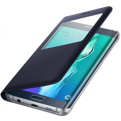 Samsung S-View Flip púzdro EF-CG928PB pre Galaxy S6 Edge+, Modročierna