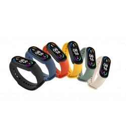 Mi Smart Band 6 Strap (3-Pack čierny, oranžový, modrý)